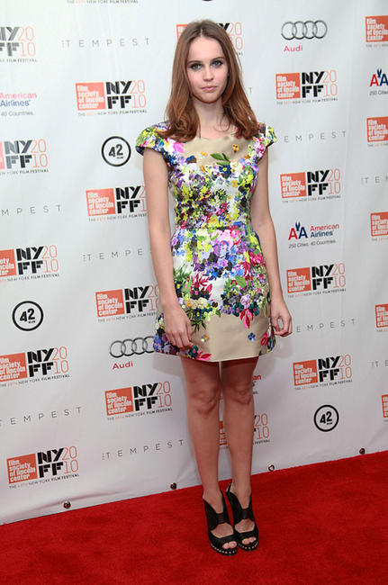 Felicity Jones at the 48th New York Film Festival premiere of