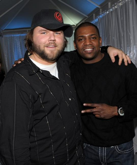 Tyler Labine and Mekhi Phifer at the Fox Winter 2010 All-Star party.