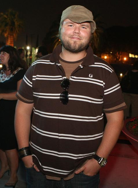 Tyler Labine at the CW Television Critics Association Press Tour party.