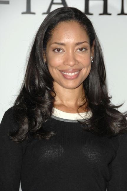 Gina Torres at the Suh-Tahn fashion show during the Mercedes-Benz Fashion Week.