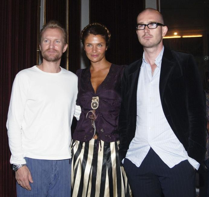 Ulrich Thomsen, Helena Christensen and Christoffer Boe at the promotion of