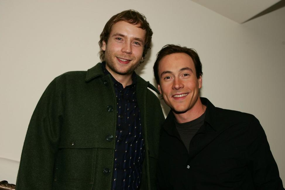 Mark Webber and Chris Klein at the cast party of