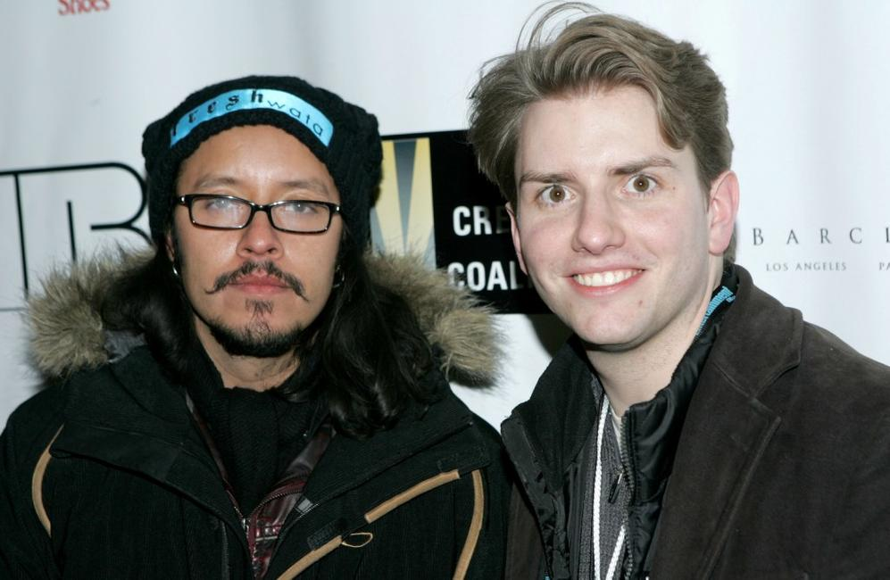 Efren Ramirez and Chris Barrett at the premiere of