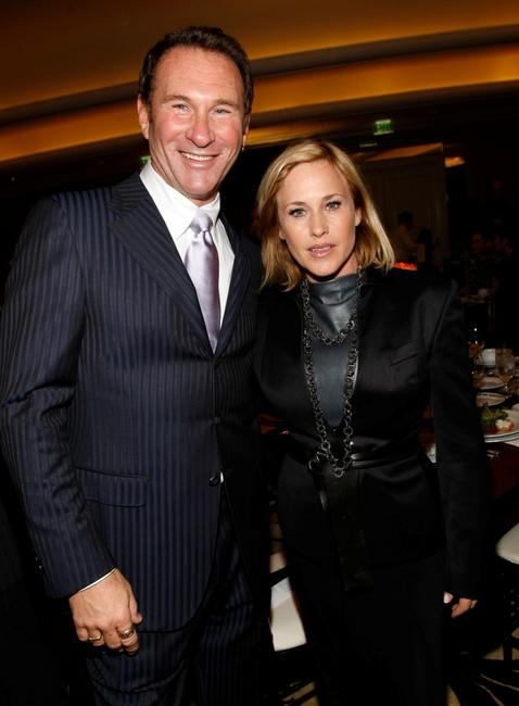 Patricia Arquette and Hal Rubentein at the Diamond Information Center and InStyle Diamond Fashion Show Preview Luncheon.