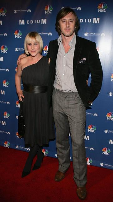 Patricia Arquette and Jake Weber at the NBC fall party for 'Medium'.