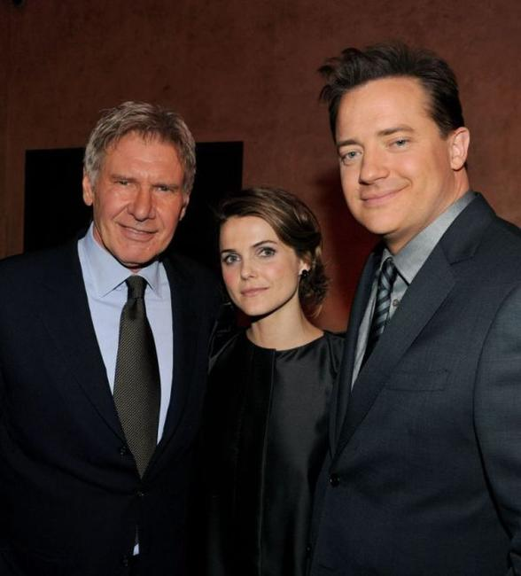 Harrison Ford, Keri Russell and Brendan Fraser at the after party of the California premiere of