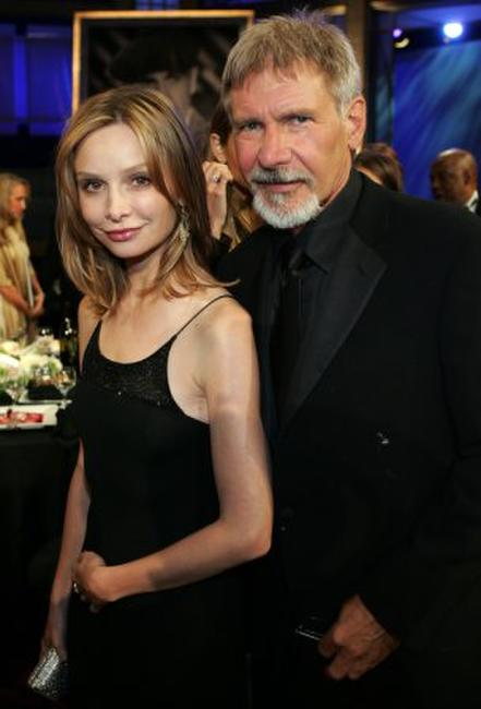 Calista Flockhart and Harrison Ford at the 34th AFI Life Achievement Award.