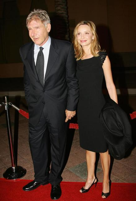 Harrison Ford and Calista Flockhart at Jules Verne Adventure Film Festival and Exposition launch event.