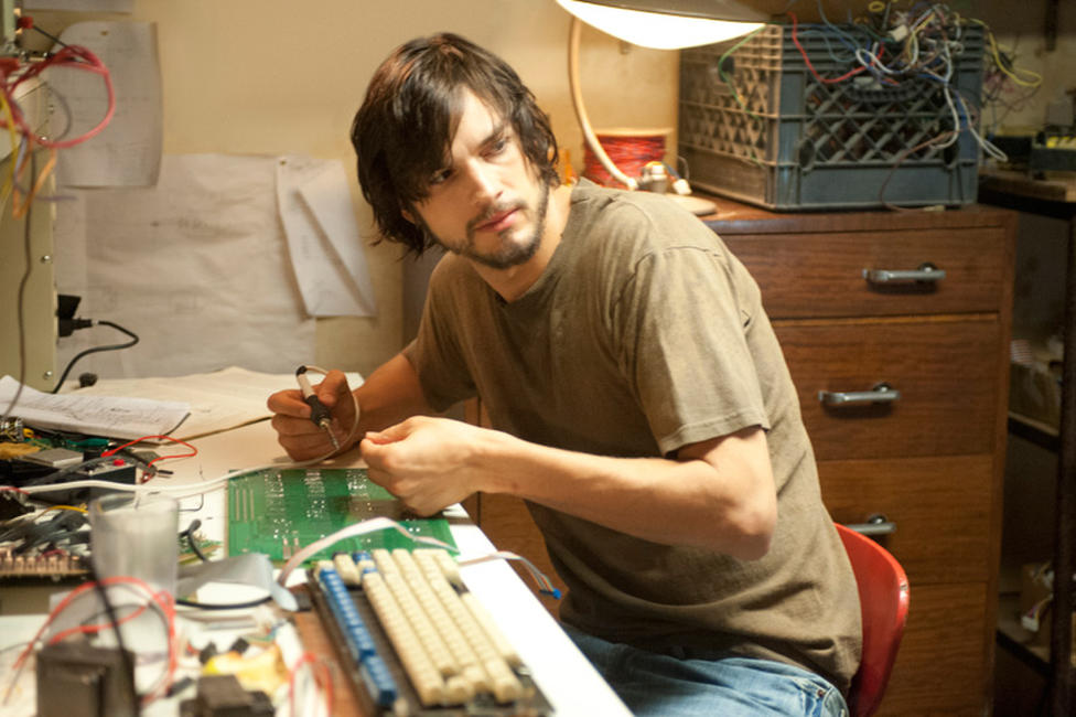 Ashton Kutcher as Steve Jobs in