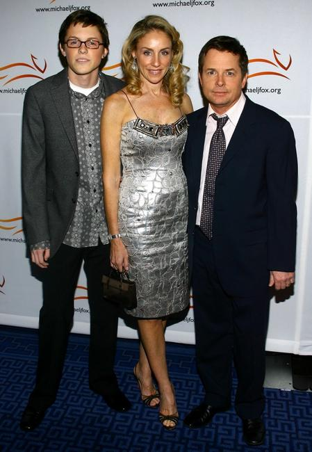 Michael J. Fox, Sam Fox and Tracy Pollan at the