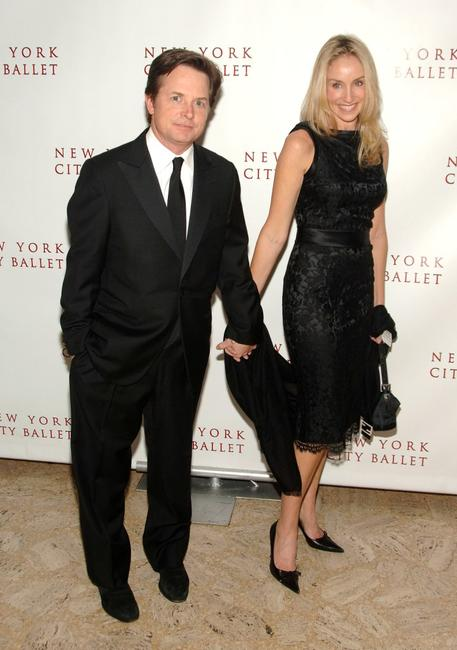 Michael J. Fox and Tracy Pollan at the New York City Ballet opening night gala.