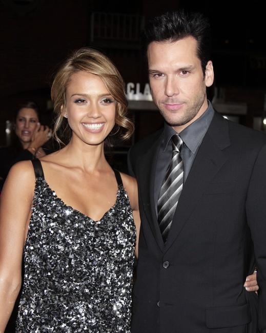 Jessica Alba and Dane Cook at the premiere of