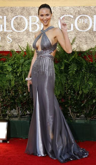 Svetlana Metkina at the 64th Annual Golden Globe Awards.