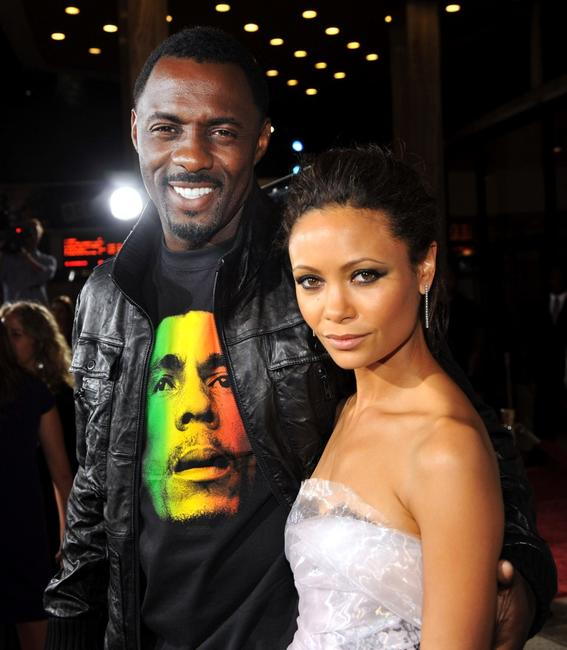 Idris Elba and Thandie Newton at the premiere of