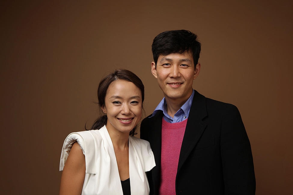 Jeon Do-yeon and Jung-Jae Lee at the portrait session of