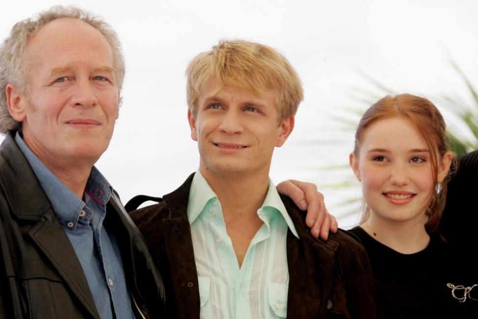 Director Jean-Pierre Dardenne, Jeremie Renier and Deborah Francois at the 58th International Cannes Film Festival.