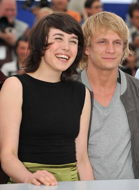Arta Dobroshi and Jeremie Renier at the 61st International Cannes Film Festival.