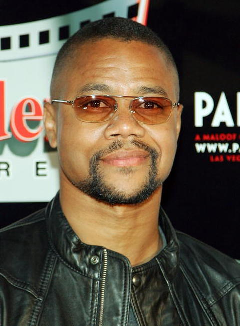 Cuba Gooding, Jr. at his celebrity star unveiling before the Las Vegas premiere of