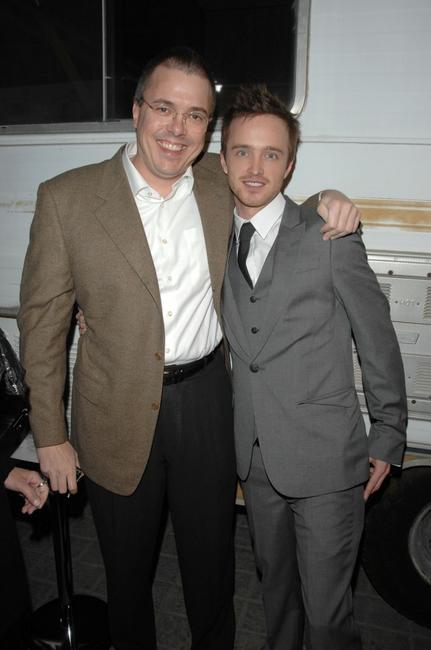Vince Gilligan and Aaron Paul at the California premiere of