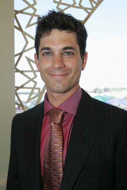 Adam Garcia at the Melbourne Cup at Flemington Racecourse.