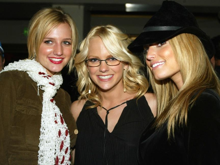 Ashlee Simpson, Anna Faris and Jessica Simpson at the after party of the premiere of