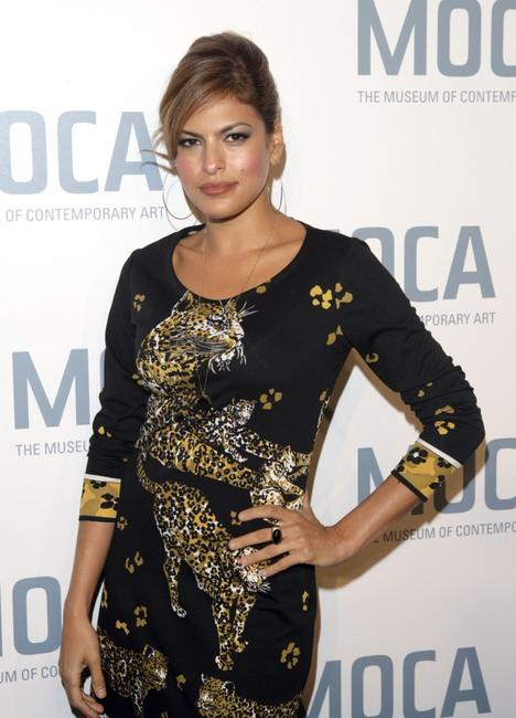 Eva Mendes at the Skin and Bones Opening Night Fete.