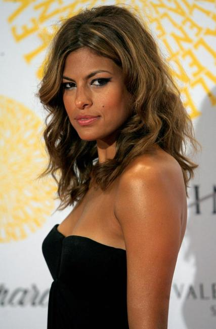 Eva Mendes at the Italian haute couture designer Valentino gala dinner.