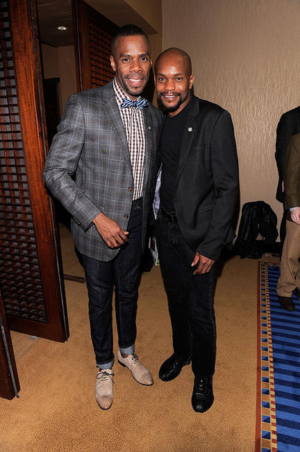 Colman Domingo and Forrest McClendon at the 65th Annual Tony Awards in New York.
