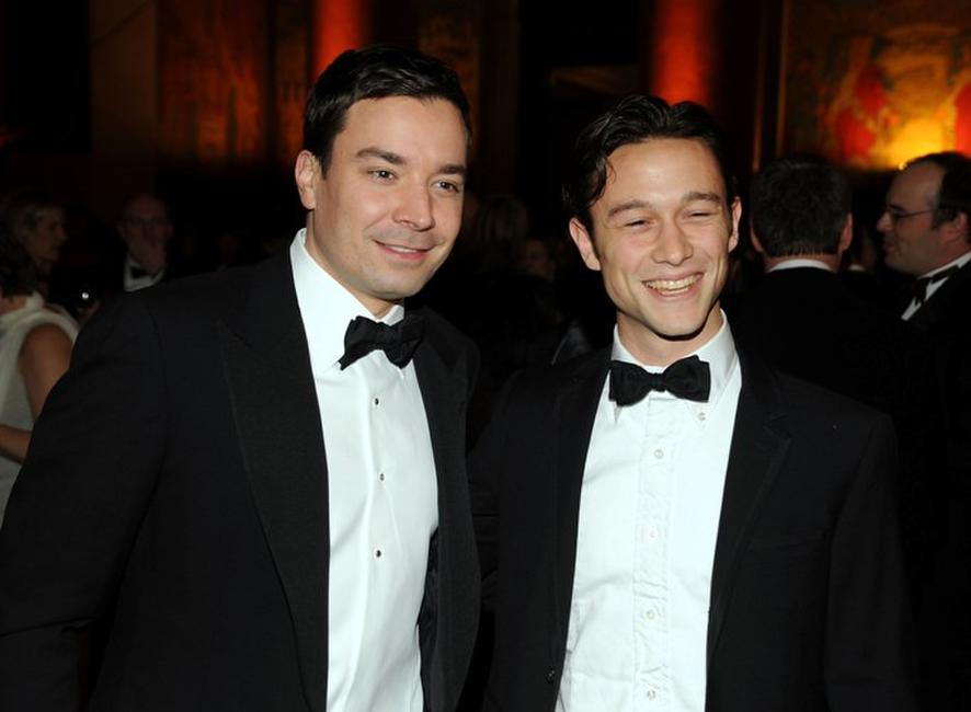 Jimmy Fallon and Joseph Gordon-Levitt at the American Museum of Natural History.