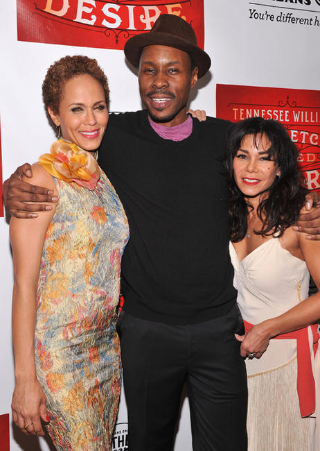 Nicole Ari Parker, Wood Harris and Daphne Rubin-Vega at the after party of the opening night of
