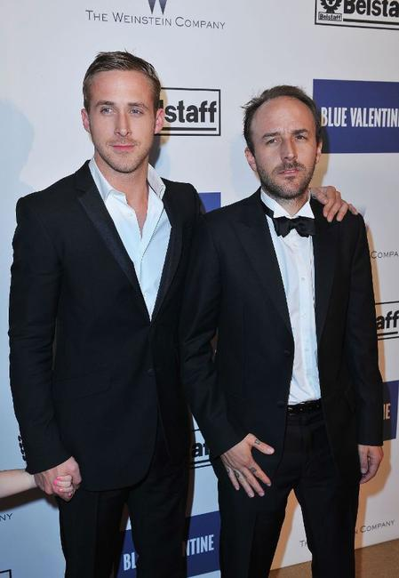 Ryan Gosling and Derek Cianfrance at the France premiere of