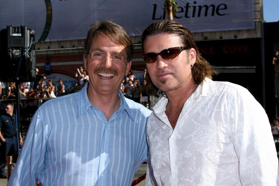 Jeff Foxworthy and Billy Ray Cyrus at the U.S. premiere of