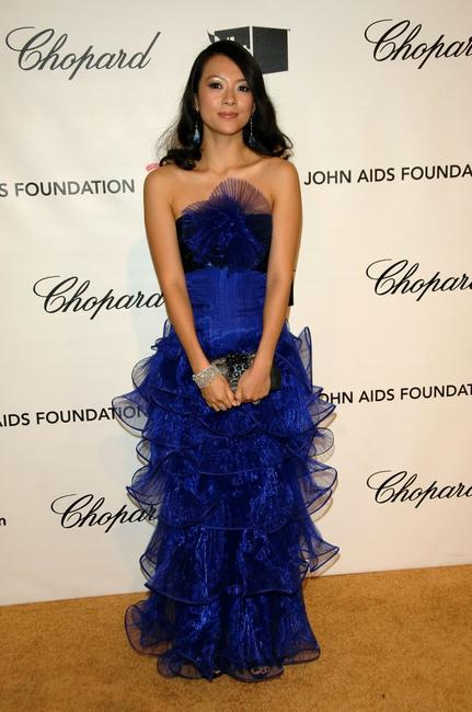 Zhang Ziyi at the 16th Annual Elton John AIDS Foundation Academy Awards viewing party.