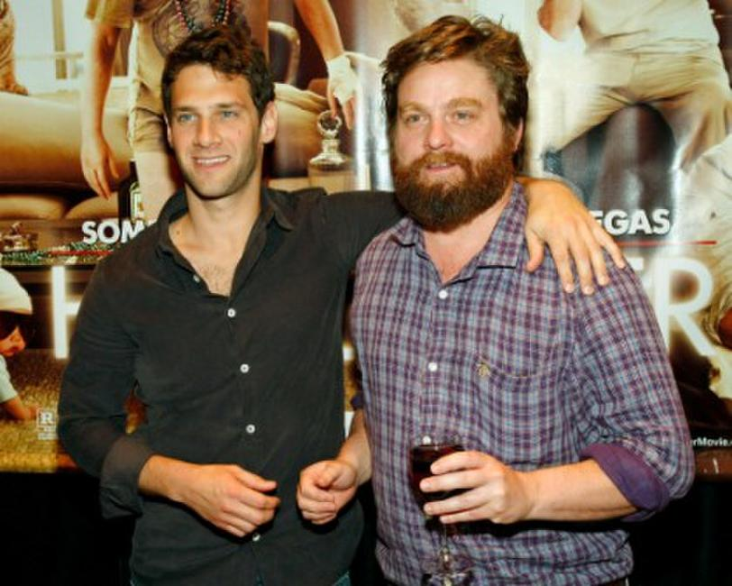 Justin Bartha and Zach Galifianakis at the