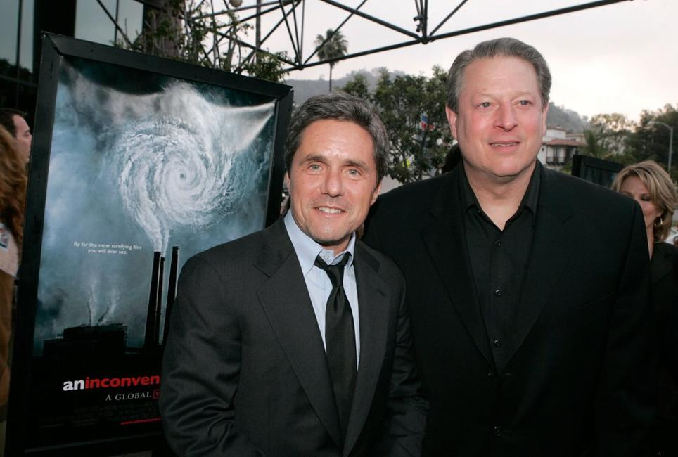 Brad Grey and Al Gore at the Los Angeles premiere of