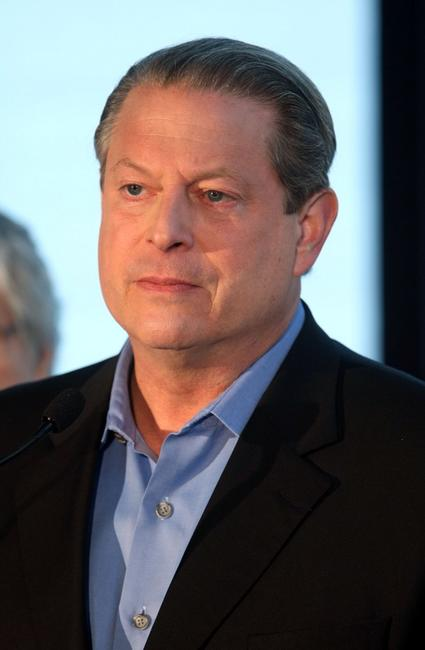 Al Gore at the press conference to announce the Live Earth