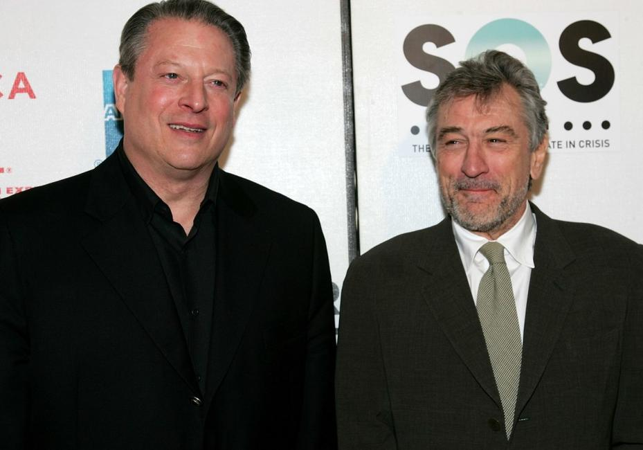 Al Gore and Robert De Niro at the opening night premiere of