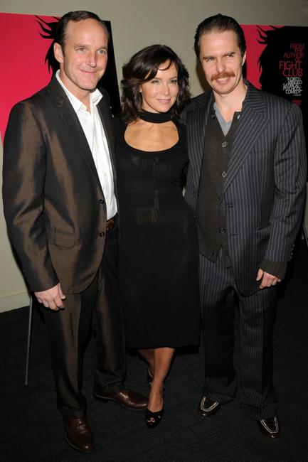 Clark Gregg, Jennifer Grey and Sam Rockwell at the screening of