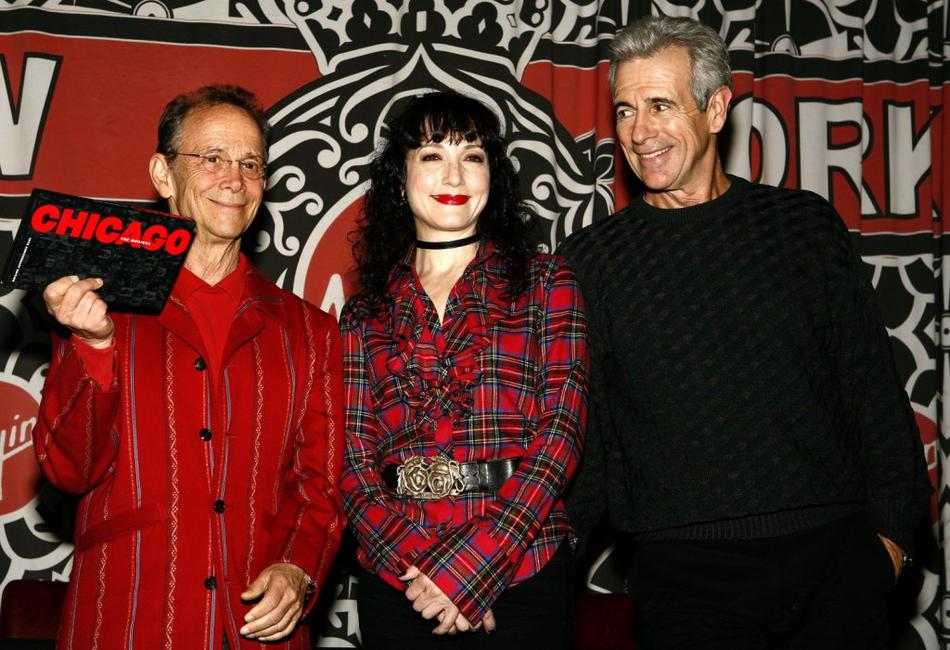 Joel Grey, Bebe Neuwirth and James Naughton at the signing of the newly released Chicago 10th Anniversary CD/DVD Box Set.