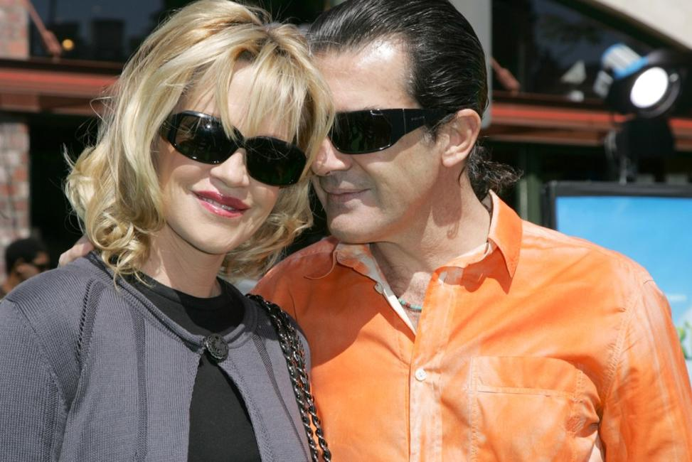 Melanie Griffith and Antonio Banderas at the premiere of Dreamworks