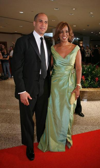 Cory Booker and Gayle King at the White House Correspondents Association Dinner.