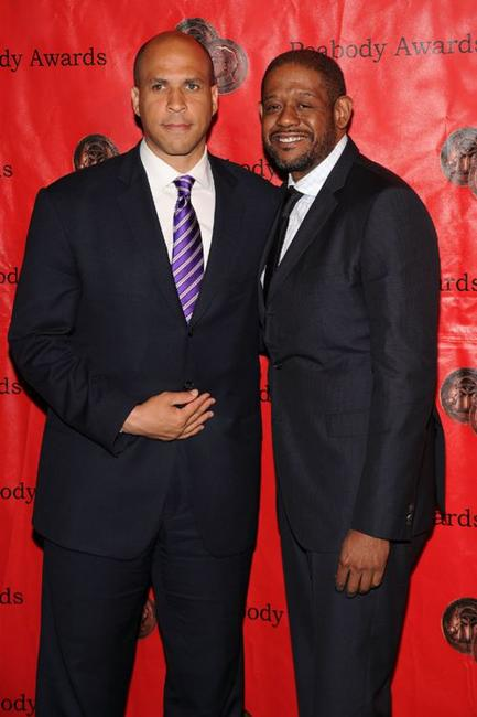 Cory Booker and Forest Whitaker at the 69th Annual Peabody Awards.