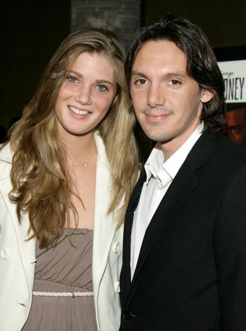 Lukas Haas and guest at the premiere of