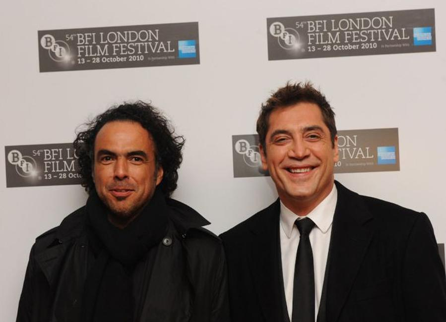 Alejandro Gonzalez Inarritu and Javier Bardem at the premiere of