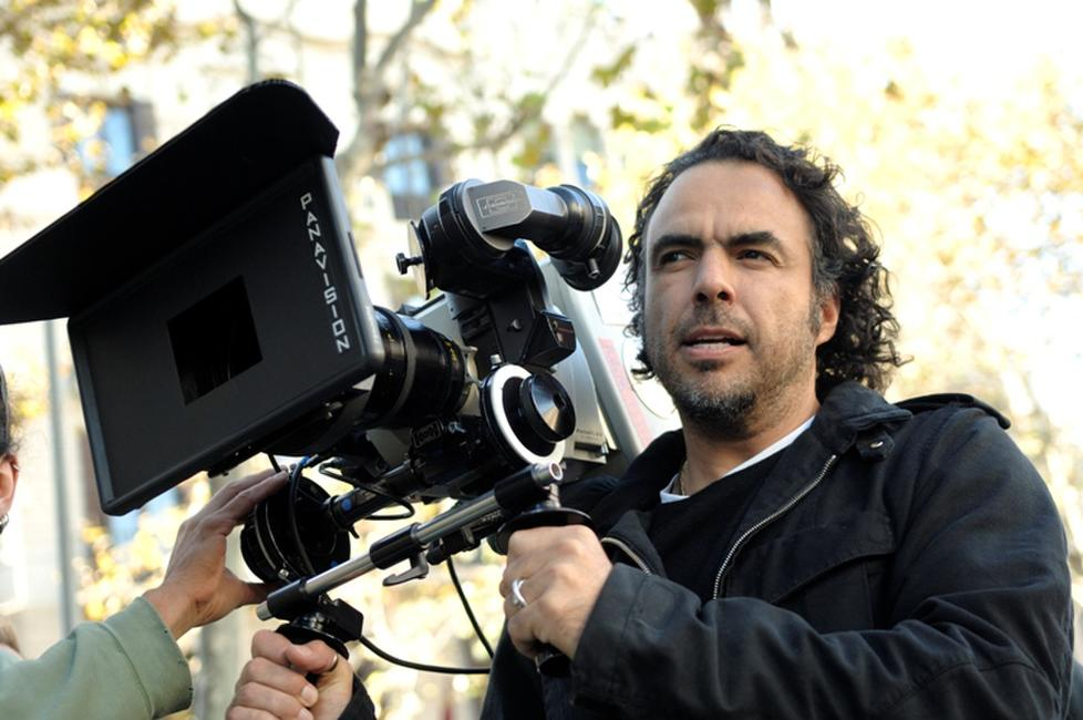 Director Alejandro Gonzalez Inarritu on the set of