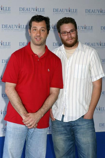 Judd Apatow and Seth Rogen at the photocall of
