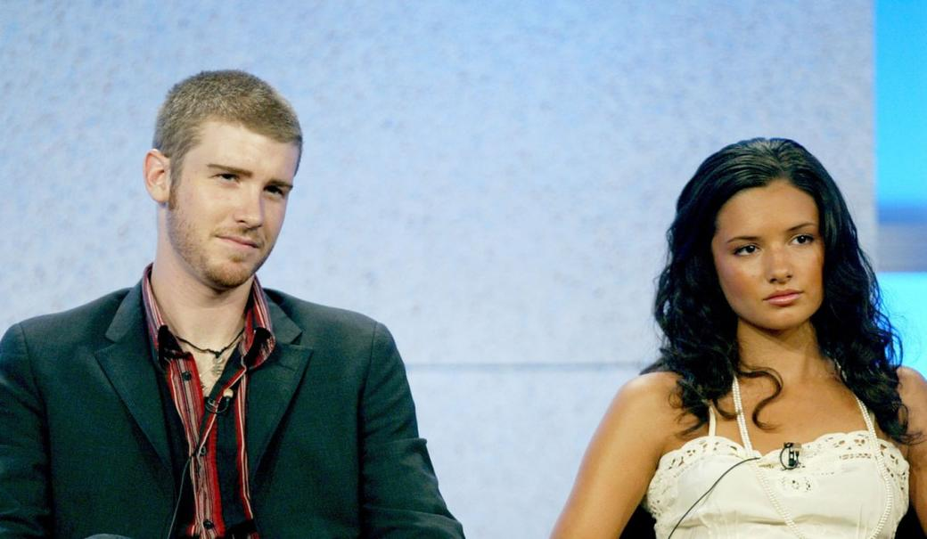 Jon Foster and Alice Greczyn at the panel discussion of