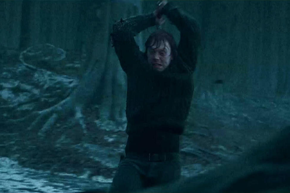 "Rupert Grint as Ron Weasley in Warner Bros. Pictures' fantasy adventure ""Harry Potter and the Deathly Hallows: Part I.."
