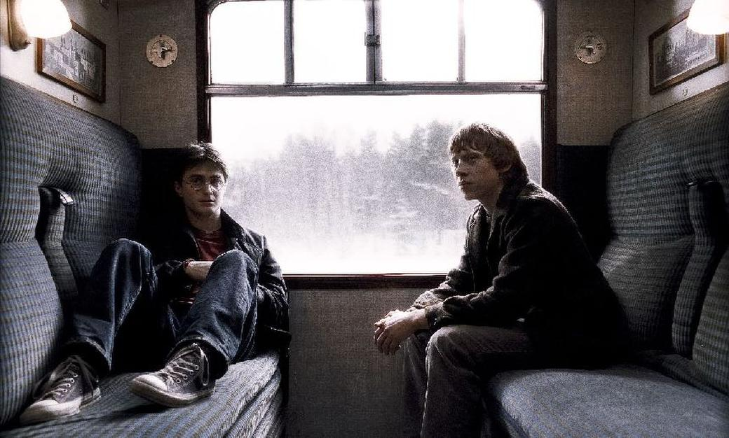 Daniel Radcliffe as Harry Potter and Rupert Grint as Ron Weasley in