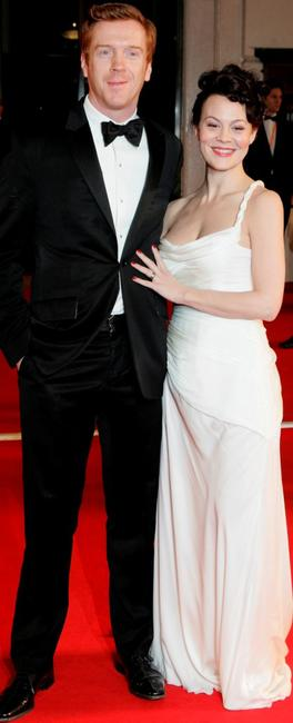 Damian Lewis and guest at the Orange British Academy Film Awards (BAFTAs).